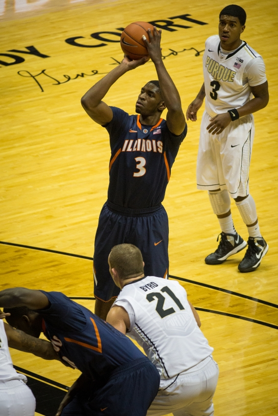 Brandon Paul completing a four point play