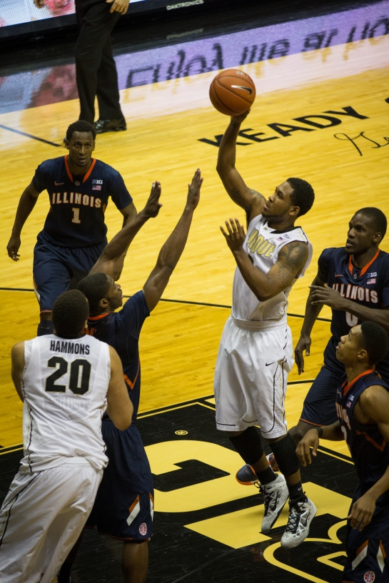 The start of Terone Johnson's floater