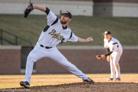 I love the delivery by Purdue reliever Pat Gannon