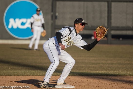Brandon Krieg taking the throw down at second base