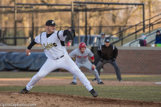 Kyle Upp pitching for Purdue