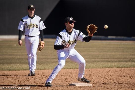 Brandon Krieg takes the throw at second base